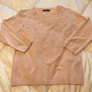 Pale pink pearl sweater